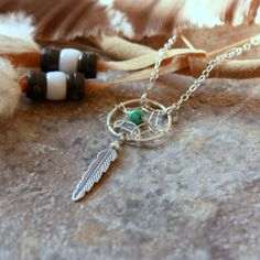 Silver+Dream+Catcher+Necklace++Sterling+Silver+by+sevgicharms