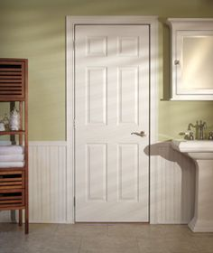 Colonist Interior White Door