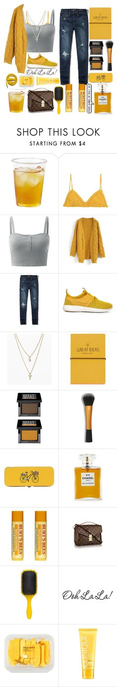 """All things Mustard"" by janysha2369 ❤ liked on Polyvore featuring Kinto, SHE MADE ME, Chicwish, Hollister Co., NIKE, LOFT, Topshop, Make, ULTA and Danica Studio"