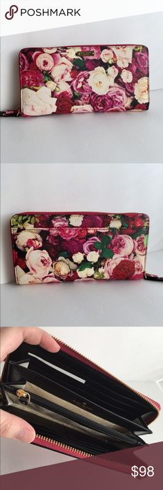 kate spade 'lacey' wallet kate spade 'lacey' wallet. cedar street collection; a beautiful bouquet print! Multiple credit card slots, full zip around. kate spade Bags Wallets