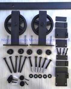 Dimon personnalisés coulissantes quincaillerie de porte de grange en bois quincaillerie de porte suspendus roue Amérique style porte coulissante matériel DM-SDU 7209