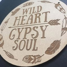 Wild Heart Gypsy Soul Door Sign Decor Wall Hanging Gift Boho Door Sign... ($20) ❤ liked on Polyvore featuring home, home decor, wall art, grey, home & living, home décor, wall décor, wall hangings, door wall art and door signs