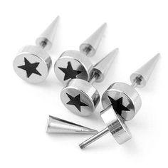 Ayliss 1 Pc Stainless Steel Ear Stud Taper Spike Pentagram Pattern Pun #silverearrings #fashion #Unbranded #earring #rioritajewelry #goldplated #sterlingsilver #silverearringsforsale #goldhoops #beadedhoops #giftsforwomen #valentinesday #valentines #beadedhoops #turquoiseearrings #turquoisebeads #silverturquoise #love #etsyfinds #gift