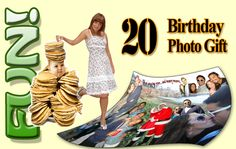 Creative 20th Birthday Gifts for Brother from Sister. Photo gift ideas and more...