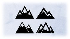 mountain silhouette simple easy clipart shape clip scenes holiday drawings shapes tattoo svg decals