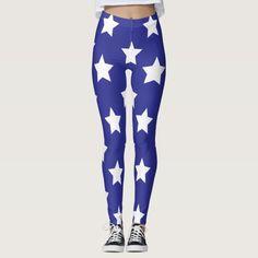 Blue And White Leggings, American Flag Leggings, Custom Leggings, Shop Usa, Usa Flag, Leggings Fashion, Workout Leggings, Dressmaking, Yoga Fitness