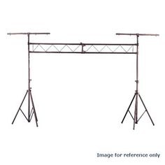 BULBAMERICA 10 Foot easy-to-setup Trussing System DJ Lighting Stand by BulbAmerica. $99.95. Ideal for portable light shows, this sturdy, easy-to-setup trussing system comes complete with two black anodized aluminum tripods that telescope to nine feet. Also included are two five-foot truss I-beams that lock together to create a 10-foot span. Comes with two T-bars for use with or without the truss. The LTS31 may also be used to fly lightweight speaker cabinets ov...
