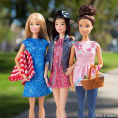 Spending a beautiful day outdoors with friends. What will we discover next?  Shop the dolls via the link in our bio!