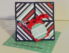 Debbie's Designs: Four Fold Card! - pictorial tutorial here too