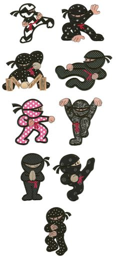 Embroidery | Applique Machine Embroidery Designs | Super Ninjas Applique