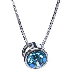 Loving this Aquamarine Swarovski® Crystal Round Pendant Necklace on #zulily! #zulilyfinds