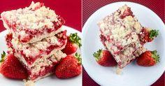 Jednoduchý jahodový koláč z vláčného těsta Krispie Treats, Rice Krispies, Dessert Recipes, Desserts, French Toast, Sweets, Baking, Breakfast, Food