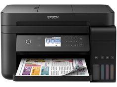 Impressora Multifuncional Epson EcoTank L6171 - Tanque de Tinta Wi-Fi Colorida USB - Magazine Compumais Wi Fi, Usb, Ink Tank Printer, Epson Ecotank, Display Lcd, Printer Types, Vivid Imagery, Power Cable, Office Phone