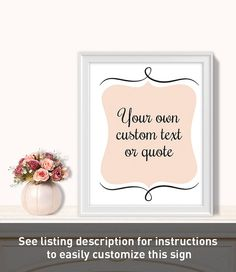 Your Custom Text Poster // Ceremony Reception by JadeForestDesign