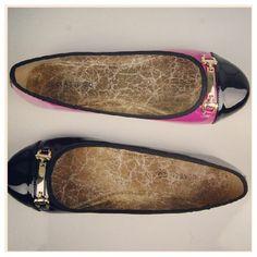Gold Belted Flats - MyHotShoes.com via Polyvore