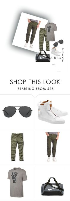 """Untitled #18"" by ali-sifet-r ❤ liked on Polyvore featuring Michael Kors, BUSCEMI, Abercrombie & Fitch, G-Star Raw, NIKE, men's fashion and menswear"