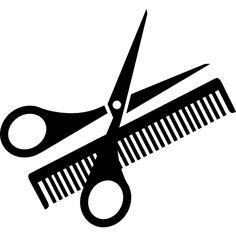 scissors and comb Scissors Tattoo, Hair Scissors, Scissors Logo, Barber Logo, Barber Shop, Hair Salon Logos, Hair Cutting Techniques, Salon Art, Long Layered Hair