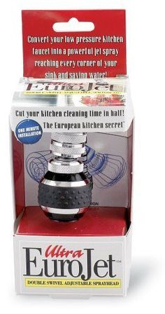 Kitchen Sprayer Black Fits All Threaded Faucets Non-Slip Surface For Wet Hands