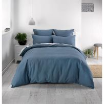 Deco Waffle Ink Queen Quilt Cover Set
