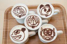 ドラえもん latte art ♡ #Japan #art #kawaii #anime