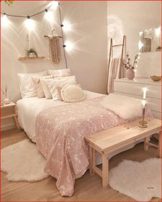 Cute Bedroom Decor, Bedroom Decor For Teen Girls, Room Design Bedroom, Girl Bedroom Designs, Stylish Bedroom, Small Room Bedroom, Room Ideas Bedroom, Teen Bedrooms, Bedroom Inspo