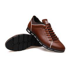 Sapatenis Social Masculino em Couro Marrom Calçados Elegante Sapato Casual - Calitta