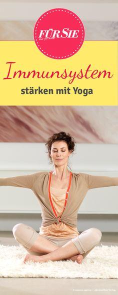 Yoga hilft gegen grippale Infekte: Wer regelmäßig übt, stärkt seine Abwehr, ist seltener erkältet und braucht weniger Medikamente.