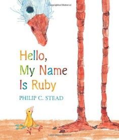 MOCK CALDECOTT SPRING 2014: Hello, My Name Is Ruby, illustrated by Philip C. Stead - MAIN Juvenile PZ7.S8082 Hel 2013 - check availability @ https://library.ashland.edu/search/i?SEARCH=9781596438095