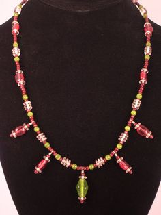 Raspberries and Olives 20 Inch Boho Glass Stone by FiveLeavesFound, $32.00