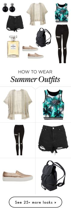 """Casual summer outfit"" by vivi-aguilarg on Polyvore featuring Topshop, Victoria's Secret, Violeta by Mango and Chanel"