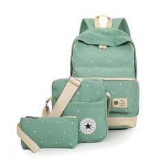 2016 Women Backpack School Bags For Teenagers Girls Rucksack Outdoor Backpacks Set Mochila Printing Bookbag Cute Canvas 2001 Ladies School Bag, School Bags, Laptop Shoulder Bag, Laptop Bag, Shoulder Bags, Fashion Handbags, Fashion Bags, Green Backpacks, Bags For Teens
