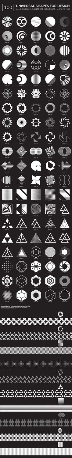 100 geometric shapes. Part 2 $15 by Vanzyst on @creativemarket