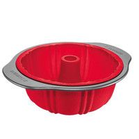 Assadeira Sanremo Silicone Redonda para Pudim  Não necessita mudar de recipiente para passar do forno ao congelador e vice-versa.