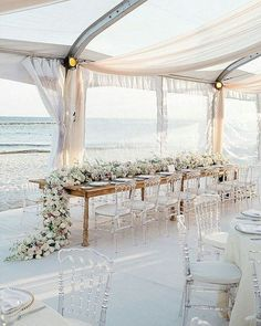 Reception by the sea.