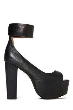 Jeffrey Campbell Girl Crush Platform Heel - Black|| Please, help me I'm crying, I need this.