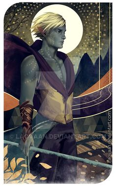 Tarot Lavellan - Dragon Age by Laovaan on DeviantArt The expression on his face is great. Dragon Age Origins, Dragon Age Inquisition, Dragon Age Elf, Dragon Age Games, Elf Characters, Fantasy Characters, Character Inspiration, Character Art, Dragon Age Tarot Cards