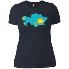 Kazakhstan flag Next Level Ladies' Boyfriend Tee