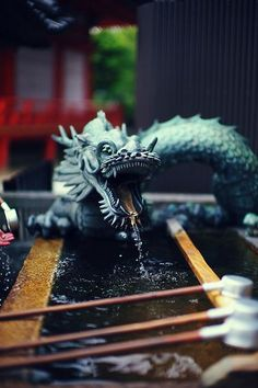 nostalgia-gallery: Dragon fountain at Kiyomizu-dera-Temple...