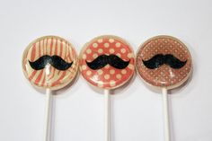 Mustache party | Vintage Confections custom lollipops and novelty sweets