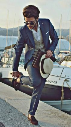 Grey suit - Men's fashion