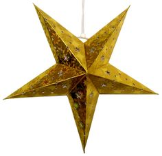 "Star Paper Lantern 11"" Gold Color  Dimension: 11 Inches  Bulb and cord are not included"