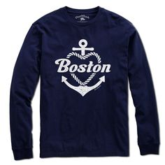 Boston Anchor Heart T-shirt