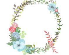 O Floral Letter Illustration Floral Typography by Makewells