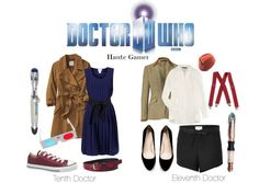Dr. Who inspired outfits from Polyvore (10th and 11th doctors)