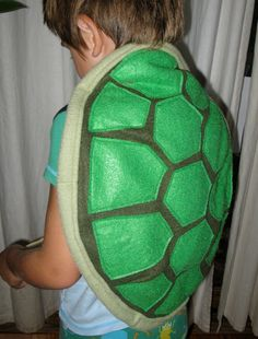 Stuffed Turtle Shell Child's Costume REserved for Tris
