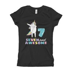 9 Best 7 Years Old Unicorn Tees And Gifts 7th Birthday Images On