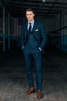 Articles of Style: Custom Bespoke Menswear Made in America - Mens wedding attire - Wedding Men, Wedding Attire, Tweed Wedding Suits, Vintage Wedding Suits, Blue Suit Wedding, Tuxedo Wedding, Mens Fashion Suits, Mens Suits, Dress Code Casual