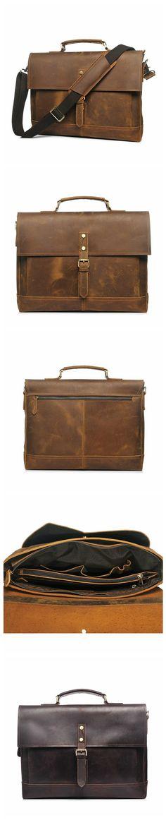 ROCKCOW Mens New Genuine Leather Messenger Bag Business Briefcase Crossbody Bag YD8047