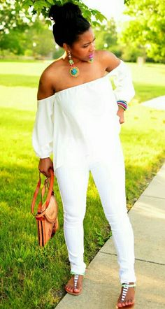 Best of All White Party Outfit Ideas All White Party Outfits, White Outfits For Women, All White Outfit, Casual Outfits, Cute Outfits, Fashion Outfits, Clothes For Women, Plus Size White Outfit, White Women