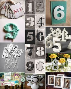 creative table number ideas for weddings | Table_Numbers